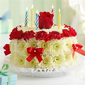 Doğum Günü Pastalı Çiçek