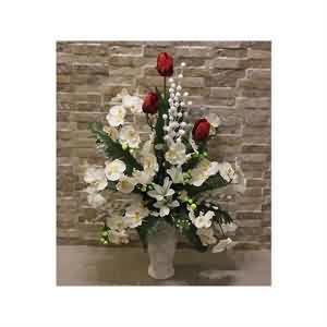 Kırmı Beyaz Yapma Çiçek