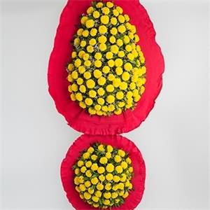 Sarı Cinyalı Ayaklı Sepet