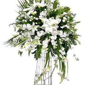 Sade Beyaz Çiçeklerden Ferforje