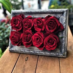 Antik Çerçevede Güller
