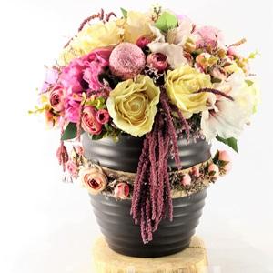 Yapay Çiçek Black Saksı