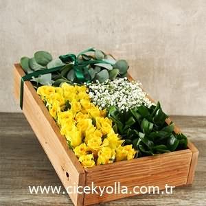 Sarının İhtişamı güller