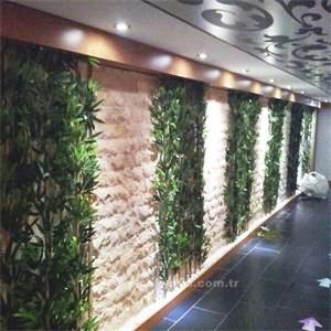 Otel Lobisi İcin Yapay Bambu Duzenlemesi