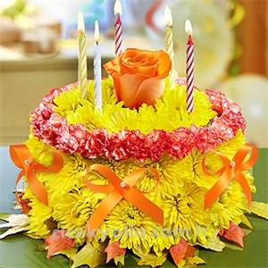 Sevgiliye Çiçekli Doğum Günü Pastası