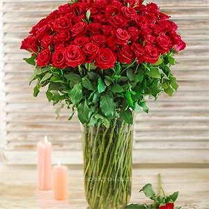 Sevgiliye 100lü Kırmızı Güller