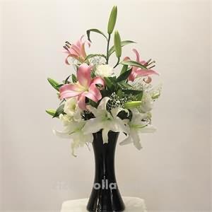 Pembe Miskokulu lilyum Ve Beyaz Lilyum