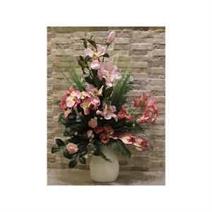 Lilyum & Orkide Yapma Çiçek