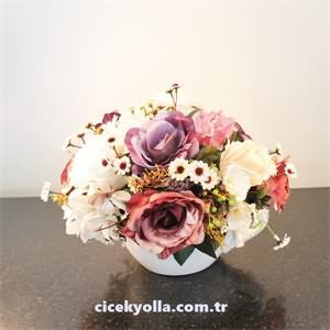 Seramik Kupada Yapay Çiçek