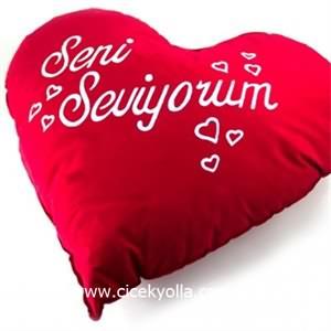 Seni Seviyorum Kalp Yastık