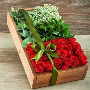 Kutuda Kırmızının İhtişamı Güller