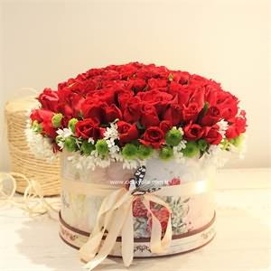 Derin Hisler Kırmızı Çiçek Aranjmanı