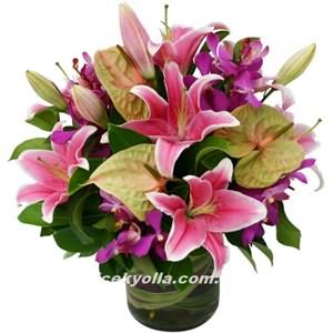 Pembe Lilyum Çiçeği