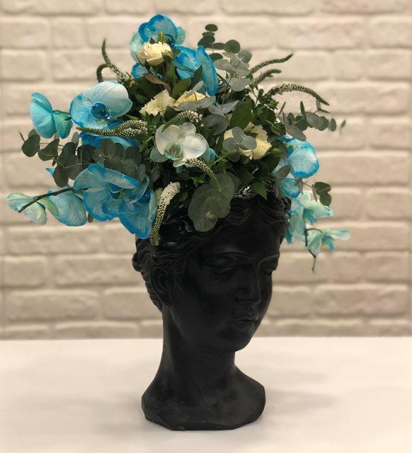 Helen Boyalı Mavi Orkide Dizayn