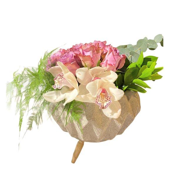 Akbaşak Lila Güllü Orkide Serisi