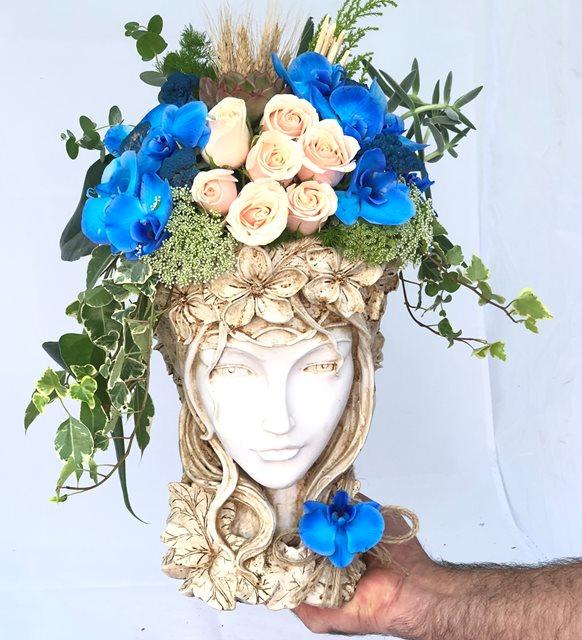 Linnea Mavi Orkide Helen Serisi